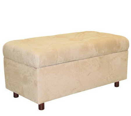Skyline Furniture Ultrasuede Storage Ottoman