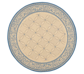 "Safavieh Courtyard Lattice Flower 5'3"" Rug Round - H179008"