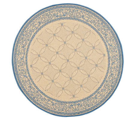 "Safavieh Courtyard Lattice Flower 5'3"" Rug Round"