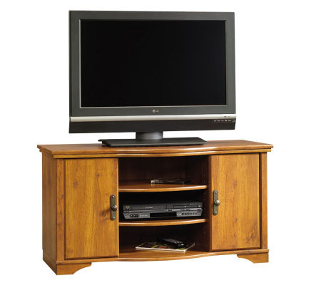 Sauder Harvest Mill Entertainment Credenza - Oak Finish