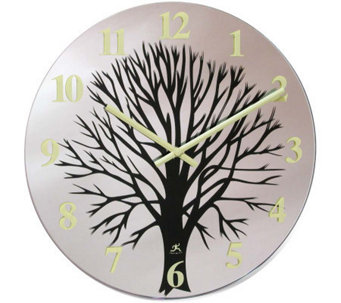 "Topiary - 14"" Glass Wall Clock - H187608"