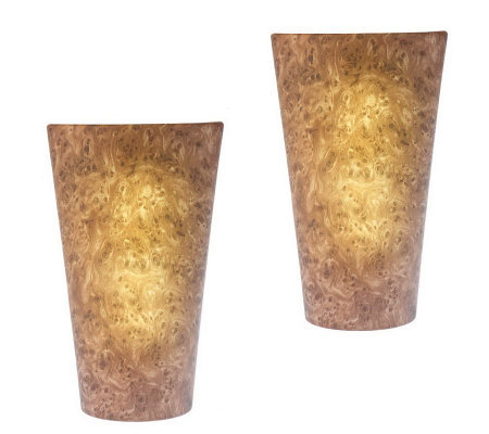 Merveilleux Set Of Two Vivid Battery Powered Wall Sconce