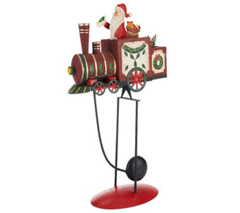 Plow & Hearth Small Balancer with Santa on Train - H203208