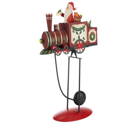 Plow & Hearth Small Balancer with Santa on Train