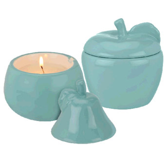 ED On Air Set of 2 5.5oz Fruit Figural Candles by Ellen DeGeneres - H204808