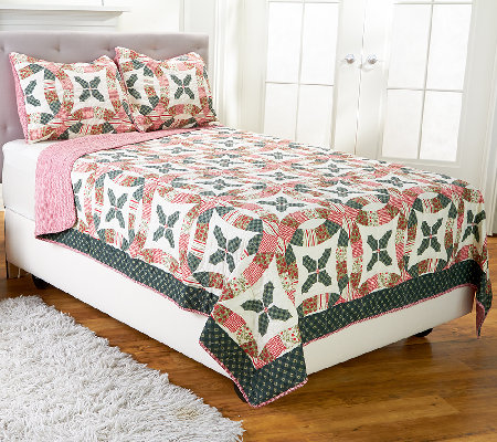 Eve Holiday 100% Cotton Full/Queen Quilt Set with Shams