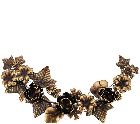 "ED On Air 19.9""L x 9.4""W Metal Floral Garland by Ellen DeGeneres"