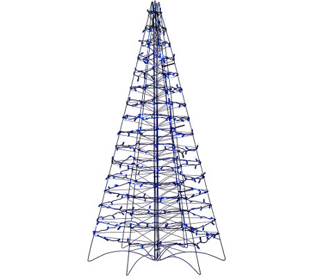 """As Is"" Pre-Lit LED 5' Fold Flat Outdoor Christmas Tree by Lori Greiner"