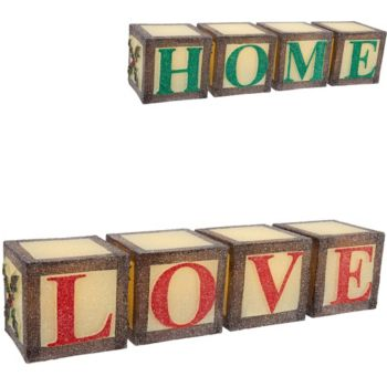 Illuminated 2-in-1 Reversible Word Blocks by Valerie