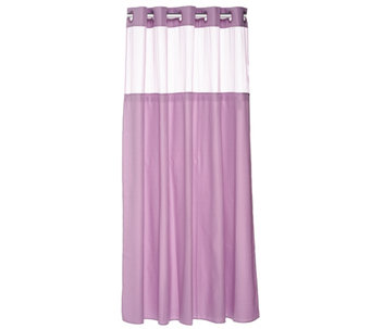 Hookless Mini Stripe Jacquard 3 in 1 Shower Curtain - H209008