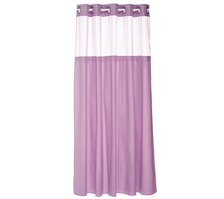 Hookless Mini Stripe Jacquard 3 in 1 Shower Curtain