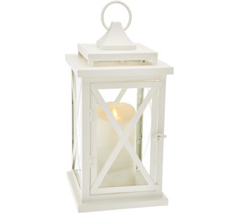 "Luminara 14"" Lexington Lantern with Flameless Candle & Remote - H209408"