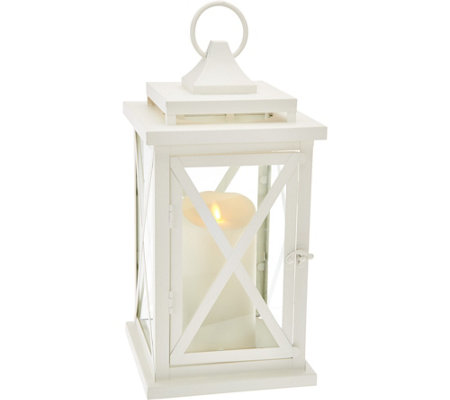 "Luminara 14"" Lexington Lantern with Flameless Candle & Remote"