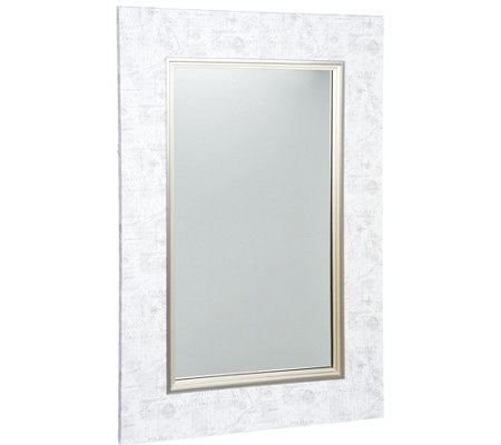 "Scott Living 24"" x 36"" Canvas Wrapped Mirror With French Script"