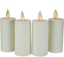 "Luminara Set of 4 3.5"" Soft Touch Flameless Votive Candles - H212408"