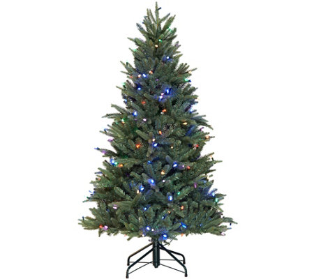 Santa's Best 5' RGB Blue Spruce Tree with 64 Functions