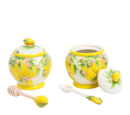 Temp-tations Figural Fruit Jam and Honey Jar