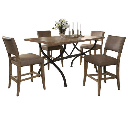 Hillsdale Charleston 5pc Ctr Ht Rect Dining Setw/Parson Chair