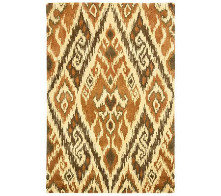 Safavieh Capri Collection Ikat 6' x 9' Wool and ViscoseRug
