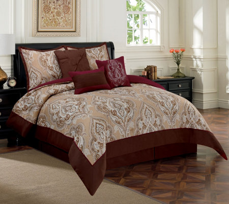 Home Reflections Damask Comforter Set