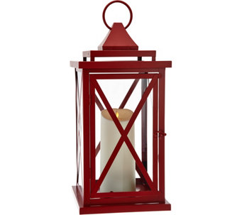"Luminara 18"" Lexington Lantern with Flameless Candle & Remote - H209409"