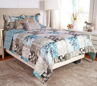 Scott Living Seattle 5pc Reversible Twin Comforter Set   H210709