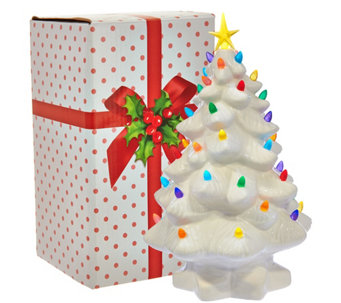 """As Is"" Mr. Christmas 14"" Nostalgic Tabletop Tree w/ LED Lights - H211009"