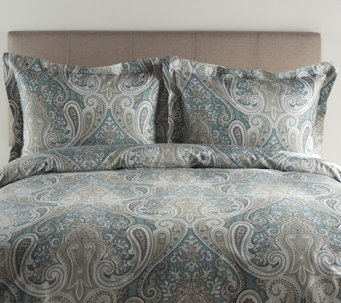 100% Cotton Crystal Palace Full/Queen Duvet Cover and Shams S - H287309