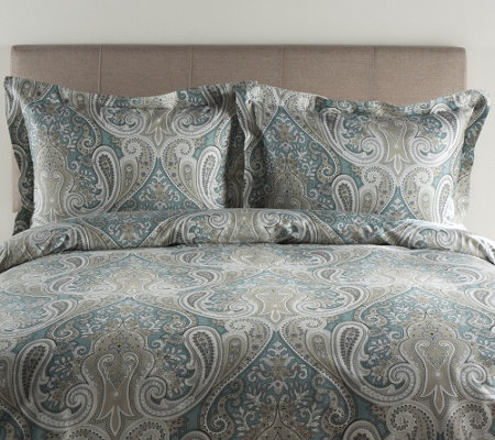 100% Cotton Crystal Palace Full/Queen Duvet Cover and Shams S