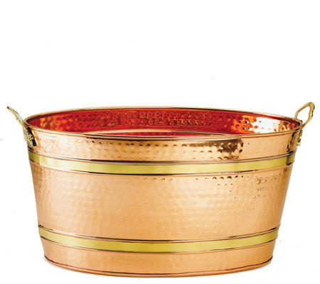 Old Dutch International Oval Decor Copper-Plated Party Tub