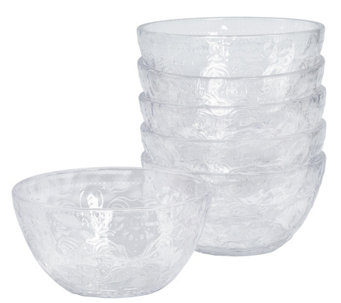 "Tabletops Unlimited Set of 6 6"" Acrylic Bowls - H289309"