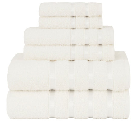 Briarwood Home Viscose Stripe 6-Piece Bath Towel Set