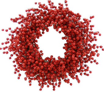 "26"" Red Berry Wreath by Valerie - H354209"