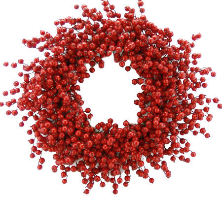 "26"" Red Berry Wreath by Valerie"