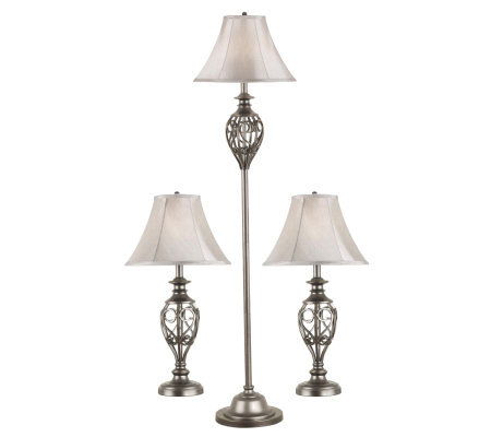 Kenroy Home Cerise Set of 3 Floor/Table Lamps