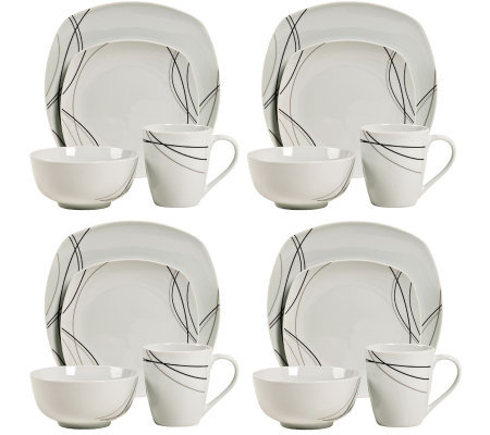 Tabletops Gallery 16 Piece Alec Dinnerware Set