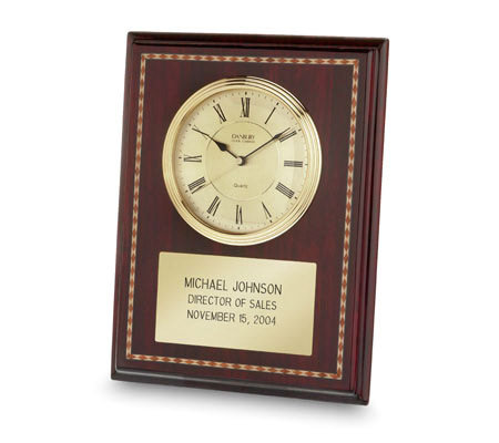 Things Remembered Personalized Mahogany Marquety Clock