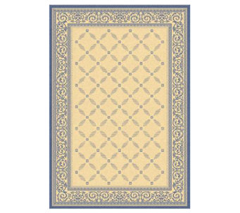"Safavieh Courtyard Lattice Flower 5'3"" x 7'7"" Rug - H179010"