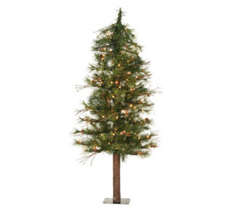4' Mixed Country Alpine Tree w/ Clear Lights byVickerman - H183410