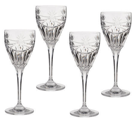 "Tipperary Crystal Set of 4 ""Dochas"" Wine Glasses"