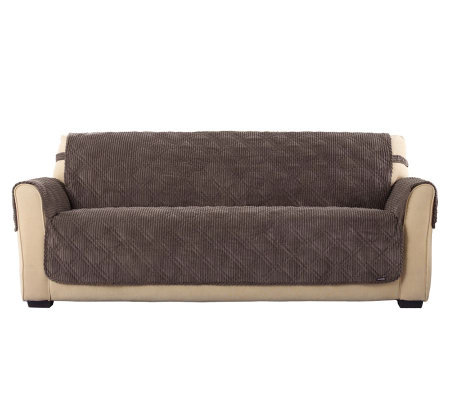 Sure Fit Textured Corduroy Sofa Furniture Friend Cover