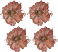 Set of 4 Glitter Magnolia Clips by Valerie