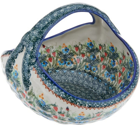 Lidia's Polish Pottery Fruit or Bread Basket