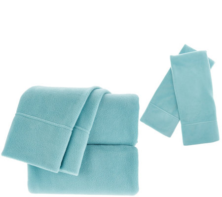 Malden Mills Polarfleece Cal King Sheet Set with Extra Pillowcases