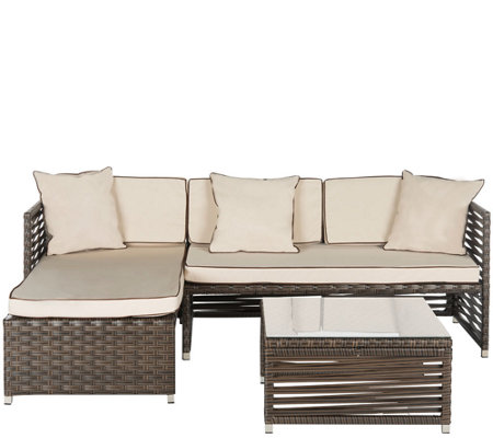 Safavieh Likoma 3-Piece Sectional Outdoor Set