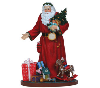 Santa Figurine with Toys and Presents by Pipka - H290010
