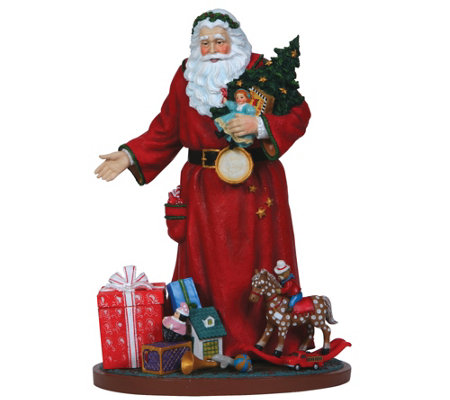 Santa Figurine with Toys and Presents by Pipka