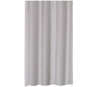 "Metro Farmhouse Ticking Stripe 72"" x 72"" ShowerCurtain - H290810"