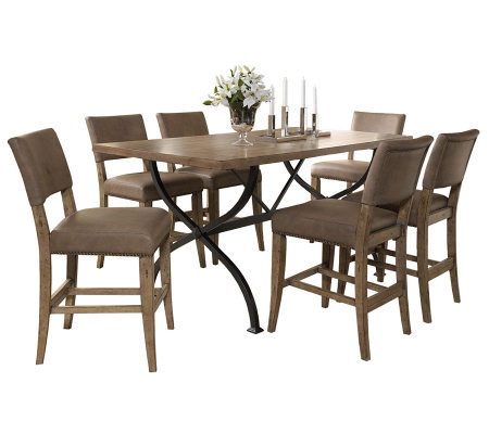 Hillsdale Charleston 7pc Ctr Ht Rect Dining Setw/Parson Chair