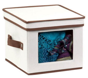 Honey-Can-Do Natural Canvas Small Window Storage Box - H367410